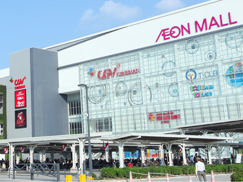 Automatic installation of Japanese Nabco doors at AEON MALL Long Bien