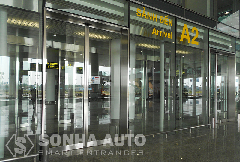 Sonha Auto supplied Nabco automatic doors for Noi Bai International Airport Terminal 2 in Vietnam