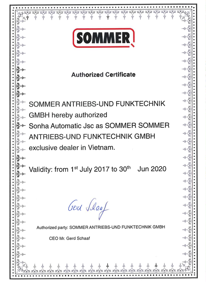 Certified dealer SOMMER - Germany